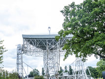 Jodrell banka Radiowy teleskop w wiejskiej wsi Cheshire Anglia Fotografia Stock