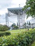Jodrell banka Radiowy teleskop w wiejskiej wsi Cheshire Anglia Fotografia Royalty Free