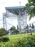 Jodrell banka Radiowy teleskop w wiejskiej wsi Cheshire Anglia Obraz Stock