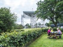 Jodrell banka Radiowy teleskop w wiejskiej wsi Cheshire Anglia Obrazy Royalty Free