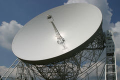 Jodrell Querneigung-Radioteleskop Stockfotos
