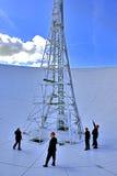 Jodrell Querneigung-Radioteleskopteller Stockbild
