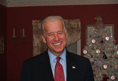 Joe Biden an der Haus-Party Stockbilder