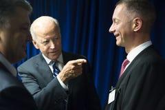 Joe Biden et Petro Poroshenko Images stock