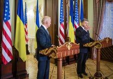 Joe Biden and Petro Poroshenko Royalty Free Stock Images