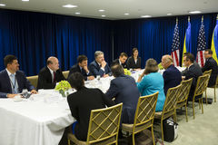 Joe Biden and Petro Poroshenko Stock Images
