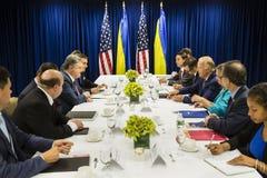 Joe Biden and Petro Poroshenko Royalty Free Stock Photography