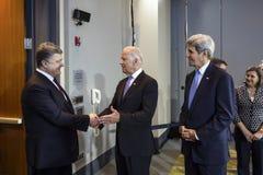 Joe Biden and Petro Poroshenko Stock Image