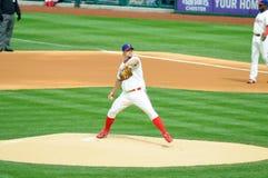 Joe Blanton April 7, 2009. April 7, 2009 Philadelphia, PA - Phillies pitcher Joe Blanton delivers a pitch in the game April 7th in Citizen's Bank Ballpark Royalty Free Stock Photo