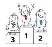 Joe the businessman is the winner. Number one. And the winner is Joe the businessman Royalty Free Stock Photography