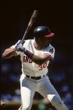 Joe Carter. Cleveland Indians OF Joe Carter. Image taken from color slide Stock Photo