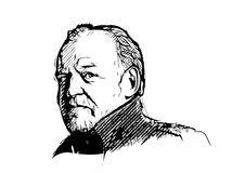 Joe cocker. Vector illustration on white Royalty Free Stock Photography
