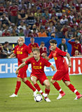 Joe Cole. During Liverpool's first pre-season match of their North American tour against Toronto FC at the Rogers Centre in Toronto, Canada, July 21 2012 Stock Photography