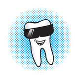 Joe Cool Tooth Royalty Free Stock Image