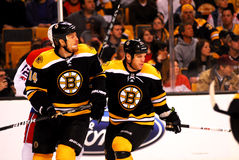 Joe Corvo and Shawn Thornton (Boston Bruins) Royalty Free Stock Image