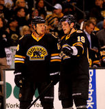 Joe Corvo and Tyler Seguin Boston Bruins Stock Image