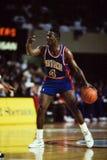 Joe Dumars Detroit Pistons. Former Detroit Pistons star guard Joe Dumars #4. (Image taken from slide Stock Photo
