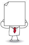 Joe en het witte blad van document royalty-vrije illustratie