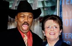 Joe Frazier e re del Billie Jean immagini stock