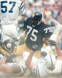 Joe Greene, Pittsburgh Steelers. Pittsburgh Steelers DE Joe Greene (75)(Image taken from color slide Royalty Free Stock Photo