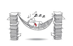 Joe Is Sleeping In A Hammock Royalty Free Stock Photography