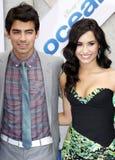 Joe Jonas and Demi Lovato Stock Photo