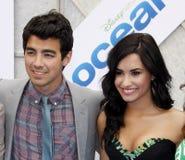 Joe Jonas and Demi Lovato Royalty Free Stock Photos