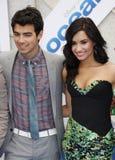 Joe Jonas and Demi Lovato Royalty Free Stock Images