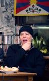 Joe Karafiat medlem av plast- folk för legendarisk musikmusikband av universumet Arkivbilder