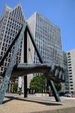 Joe Louis-Denkmal in Detroit, MI, Nahaufnahme Stockbilder