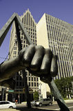 Joe Louis famos fist in Detroit Stock Image