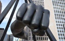Joe Louis memorial close-up in Detroit, MI Stock Image