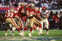 Joe Montana Of The San Francisco 49ers die Super Bowl XXIII spelen royalty-vrije stock foto's