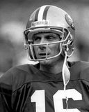 Joe Montana. San Francisco 49ers QB Joe Montana, #16. (Image taken from B&W negative Stock Images