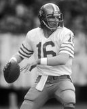 Joe Montana. San Francisco 49ers QB Joe Montana, #16.  (Image taken from B&W negative Royalty Free Stock Images