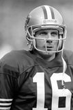 Joe Montana. San Francisco 49ers QB Joe Montana, #16.  (Image taken from B&W negative Stock Photography