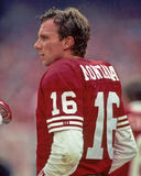 Joe Montana. San Francisco 49ers QB . (Image taken from color slide Royalty Free Stock Images
