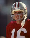 Joe Montana. San Francisco 49ers QB . (Image taken from color slide Royalty Free Stock Photos