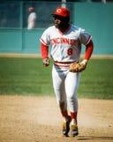 Joe Morgan Cincinnati Reds. Cincinnati Reds Hall of Fame 2B Joe Morgan. (Image taken from color slide royalty free stock image