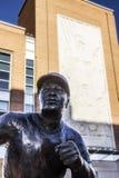 Joe Morgan statue outside the Cincinnati Reds stadium in Cincinnati Ohio. A picture of the Joe Morgan statue outside the Cincinnati Reds stadium in Cincinnati royalty free stock image
