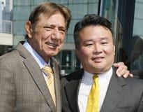 Joe Namath and David Chien royalty free stock images