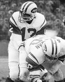 Joe Namath. New York Jets QB Joe Namath, #12.  (Image taken from B&W negative Stock Image