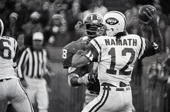 Joe Namath. New York Jets QB Joe Namath, #12. Image taken from the B&W negative Stock Image