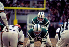 Joe Namath pod centrum Fotografia Stock
