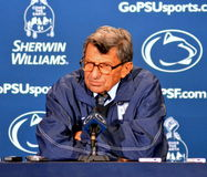 Joe Paterno Press Conference Immagine Stock
