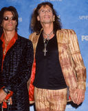 Joe Perry och Steven Tyler royaltyfria bilder