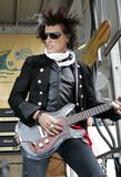 Joe Perry Performs i konsert arkivbilder