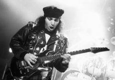 Joe Satriani voert zijn Magisch bij het Orpheum-Theater Boston, Ma 1995 door uit Eric L Johnson Photography royalty-vrije stock foto