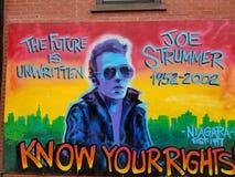 Joe Strummer del choque Imagenes de archivo