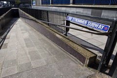 Joe Strummer Subway in Paddington, London Royalty Free Stock Images